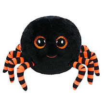 "Pyoopeo Ty Beanie Boos Crawly the Spider Black 6"" 16cm Beanie Baby Plush Stuffed Collectible Soft Doll Toy"