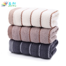 1PCS/Lot 3 Color Large 100% Cotton Face and hand Towels Compressed Towels Thickened Striped Face Floral Towels Wholesale(China)