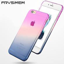 FRVSIMEM Rainbow Soft Silicon Phone Case Cover for iphone X 5 5s SE 6 7 8 6s Plus Gradient Change Color Shell Capa Coque(China)