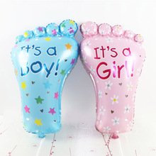 2pcs Small/Big Feet Foil Balloon Boy Girl Air Balloons for Baby Shower Kids Gift Children Toy Birthday Party Decoration(China)