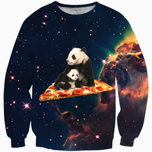 Cloudstyle 2017 Men 3d Panda Print Sweatshirt Long Sleeve Sportwear Casual Male Sweatshirt Exported China Men Tops Plus Size(China)