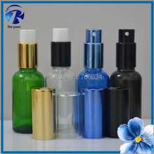 Frosted Green Glass Bottle 30ml 1 oz  Airless Pump  Perfume Bottle with Spray  Glass Bottles Essential Oil lotion pump e liquid