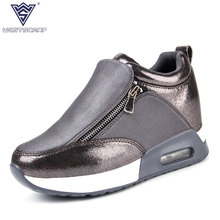 Women Shoes New 2017 Autumn Winter Leather Shoes Woman Breathable Casual Shoes Korean Fashion 3 Color Zapatos Mujer Size 35-40
