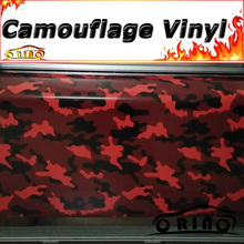 Black Red Camouflage Vinyl Wrap Snow Camouflage Film Wrapping Vehicle Car Covers Wraps Matte/Glossy Finish Free Bubble