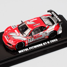 1:64 Scale brand Kyosho JGTC No.22 Motul Pitwork GT-R Nissan GTR Skyline 2003 Racing car Die cast Beads Collection model toy boy(China)
