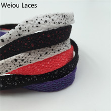 (30pairs/lot) Weiou Designer Shoe Laces Galaxy Splatter Custom Print Shoelaces Flat polka dot Shoelaces Grey Black White Purple