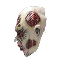 Hot sale Screaming Horror Bloody Face Off Horror Halloween Costume Mask Halloween Decorations Monster Mask(China)