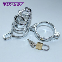 Buy Novelty metal Sex Toy lock,delay fun male sperm locking ring,male chastity device,Delay Ejaculation penis ring VP-PR009008A