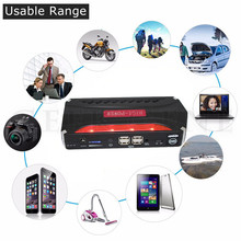 Portable car jump starter 12000mAh car-charger for battery Auto power bank booster arrancador bateria 12V emergency start jumper