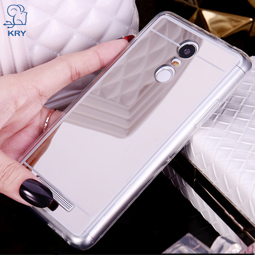KRY Mirror Phone Cases Xiaomi redmi 4X Case Note 4 4X 5 Gold Luxury Cover Xiaomi MI 5X Case MIX 2 MAX 2 Cases Capa Coque
