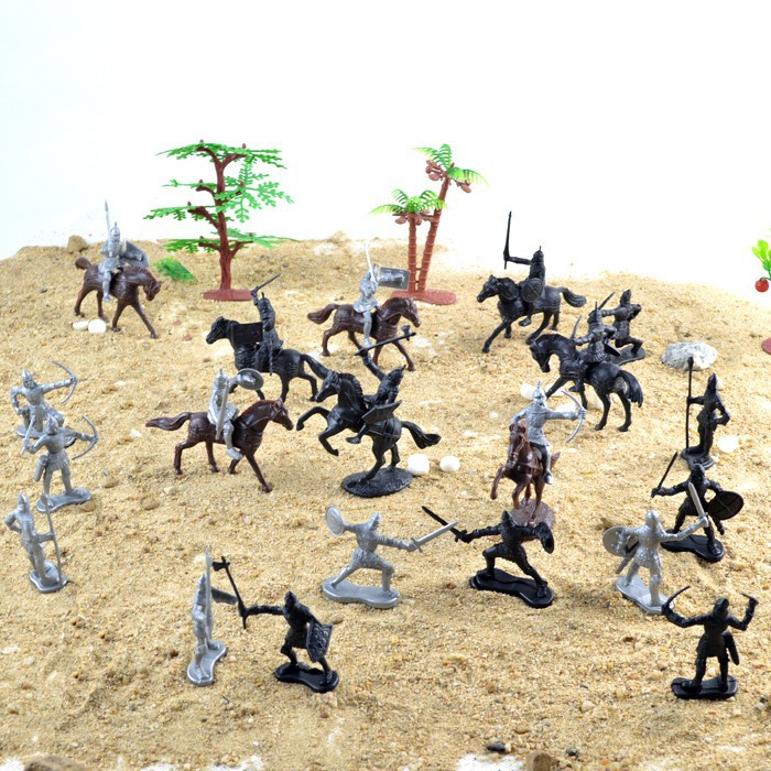 Ancient Knight 28PCS/set  soldiers and horses medieval model toy soldiers figures<br>