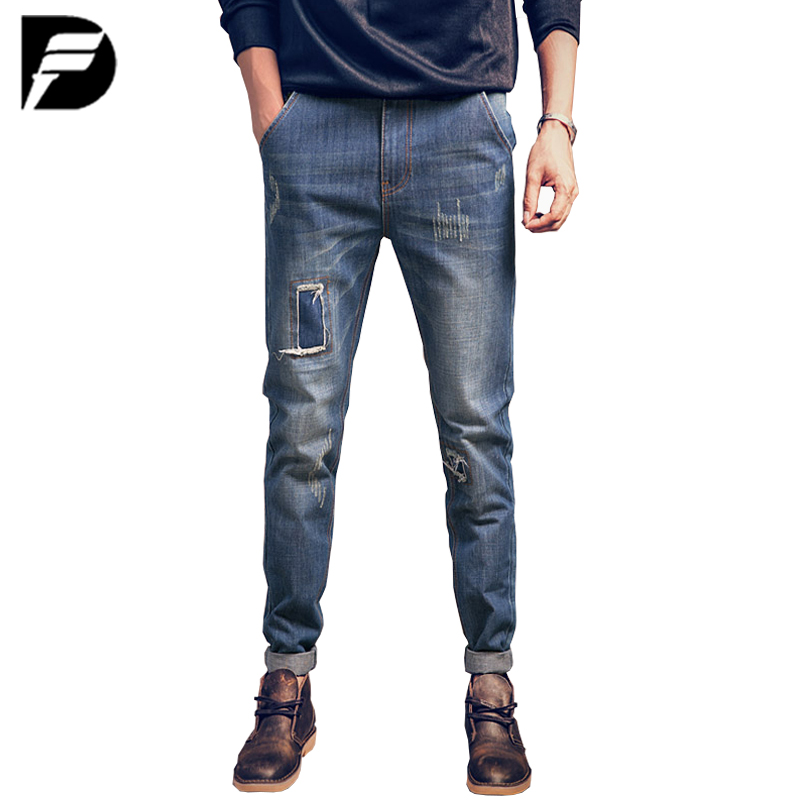 New Design Brand Ripped Jeans Men Casual Fashion Classical Male Denim Jeans Men Straight Male Scratched Blue Jeans HommeОдежда и ак�е��уары<br><br><br>Aliexpress