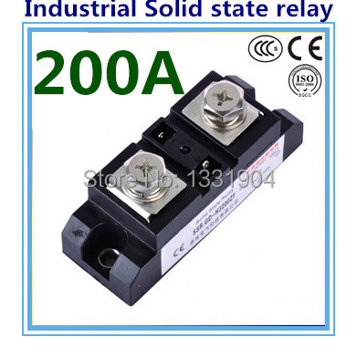 DC to AC SSR-H200ZF 200A SSR relay input DC 3-32V output AC660V industrial solid state relay<br><br>Aliexpress