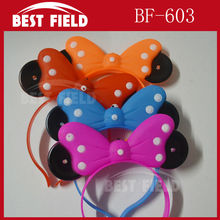 Free Shipping LED bowknot headbopper headwear mickey mouse party led Mickey Mouse Hairband kids birthday party supplies