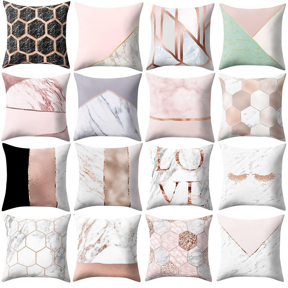 Geometric Pillow Case Cushion Cover Sofa Throw Cushion Cover Home Decor Pink /&