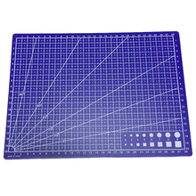 A4 Grid Lines Cutting mat Craft Card Fabric Leather Paper Board 30*22cm Blue(China)