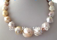 Jewelry 00974 Light Pink Lavender Unusual Keshi Keishi Baroque Pearl Necklace Blister Clasp