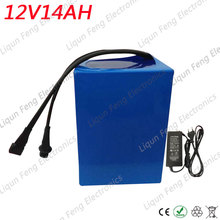 Free shipping E-bike battery 12V 14AH 350W with 12V 5A Charger 20A BMS 12V Battery Pack Lithium Battery 12V for LED Light(China)