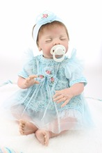 New Design 20 inches newborn baby doll imported mohair living doll cloth body toys for girls gift(China)