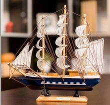 large 30x6x28cm navy blue wooden sailboat model artcraft home decoration ornaments,furnishings office desk decoration gift a2297