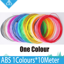 Hot Sale 1roll 10M 3D Printer filament ABS Material 1.75mm 20 colours For 3D Drawing Printer Pen MakerBot/RepRap/UP/Mendel