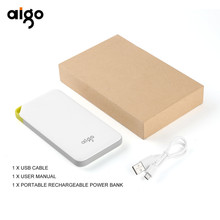 High Capacity 10000mAh Portable Power Bank Charger Backup External Battery Pack for Smartphones Tablet PC Rechargeable 5V/2A(China)