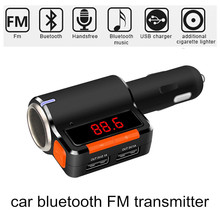 Car Bluetooth FM Modulator Transmitter Audio Radio MP3 Player Handsfree Auto Kit Dual USB Charger Port With Cigarette Lighter