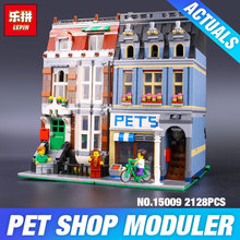 LEPIN 15009 City Street set Pet Shop Model Building Kits Blocks action bricks baby lovely toy 10218DIY Educational Gift for Girl