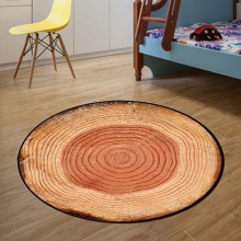 Tree Rings Round Mat 80/100/120/160CM alfombras dormitorio Carpet Living Room Deurmat Dier rugs Swivel chair Mats tapis chambre
