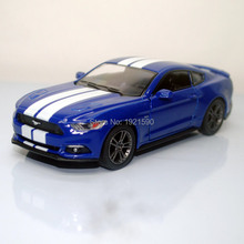 Brand New KT 1/38 Scale USA 2015 Ford Mustang GT Diecast Metal Pull Back Car Model Toy For Gift/Kids/Collection/Decoration(China)