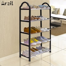 5 Tier Shoe Tower Rack Portable Excellent Quality Luxury Aluminum Stand Space Saving Organiser Storage Unit Shelves Black