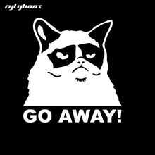 rylybons car sticker funny animal GO AWAY 11*12cm The 2nd Half Price car stickers and decals motorcycle accessories for Toyota(China)