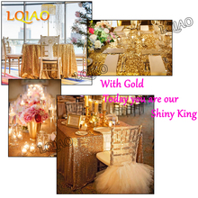 Free Shipping 120x200cm Gold/Silver Sequin Tablecloth Rectangle Style For Wedding Party Banquet Table Cloth Decoration 12 Colors(China)