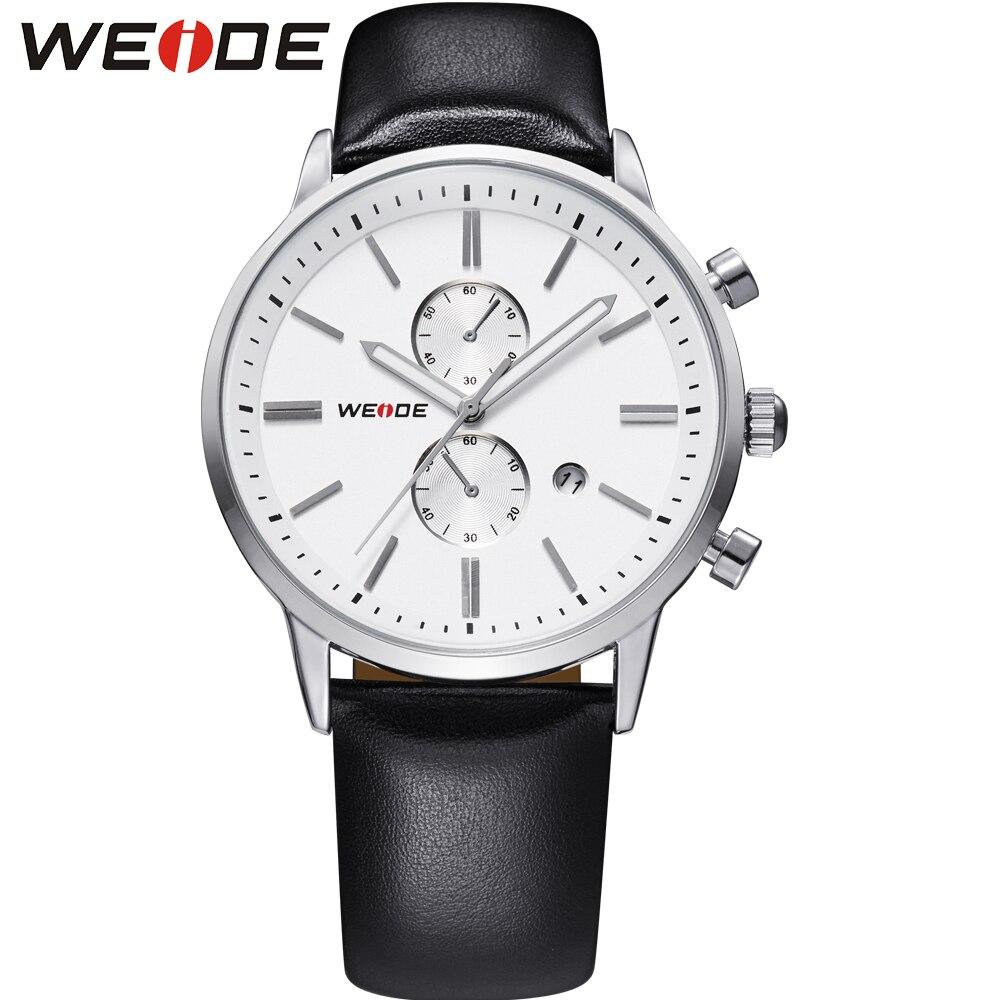 weide luxury watch dress watch fashion casualwatch white quartz sport watches men leather strap watches shockproof waterproof<br>
