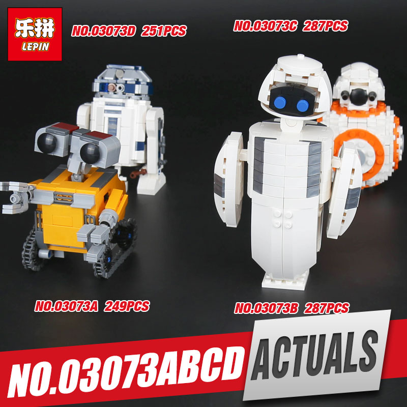 Lepin 03073 Genuine Movie Series The Four Robots In One Set Building Blocks Bricks Funny Toys As Christmas New Year Kid`s Gifts<br>