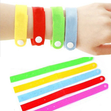 Hot Sale 5pcs Anti Mosquito Bug Repellent Wrist Band Bracelet Insect Nets Bug Lock Camping randomly color