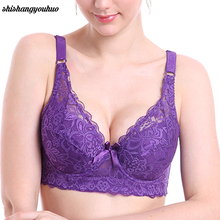 Ladies Women Sexy Underwear 3/4 Cup Padded Lace Sheer Bra