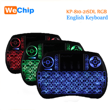 3 Colors KP-810-21SDL RGB Wireless Keyboard 2.4GHz Air Mouse Remote Control Game Touchpad For Windows Mac OS Android Smart TV OS