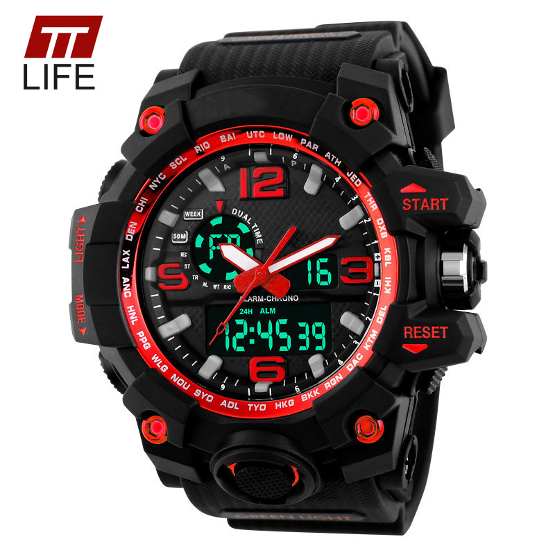 Big Dial 2017 TTLIFE Digital Watch S SHOCK Military Army Men Watch Water Resistant Date Calendar LED Sports Watches Men<br><br>Aliexpress