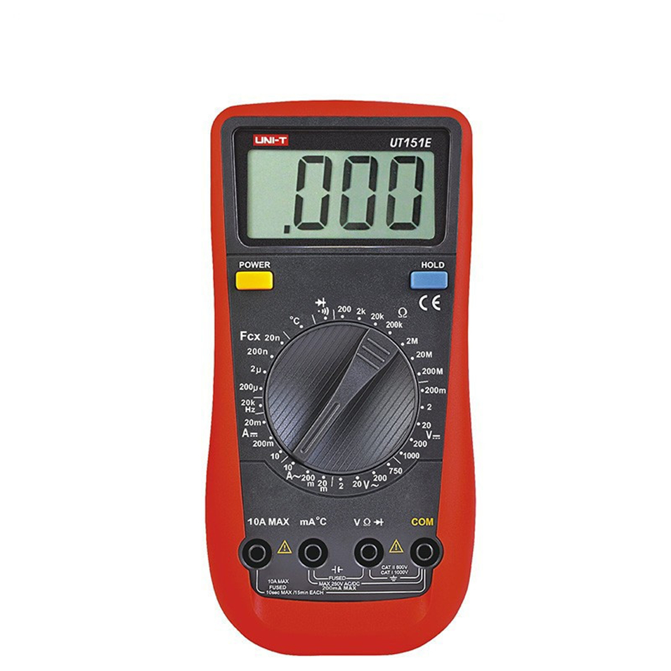 UNI-T UT151E High Reliability Handheld Automotive Multi-Purpose Multimeter with Auto Power Off<br>