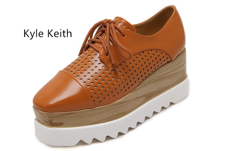 Kyle Keith New Ultra Light Platform Casual Flat Shoes Women Ladies Fashion Flats Shoes Women Luxury Brand Shoes Flats<br>