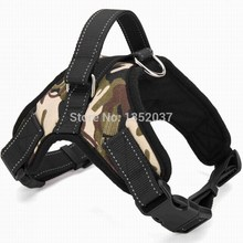 Service dog harness for walking & reflective strap pitbull harness collar padded dog harness Vest pet dog clothes Camouflage(China)