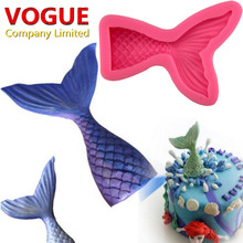 Small/Big Cute Mermaid Tail Fondant Cake Silicone Mold Cake Decorating Kitchen Baking Tools Halloween Chocolate Candy Molds