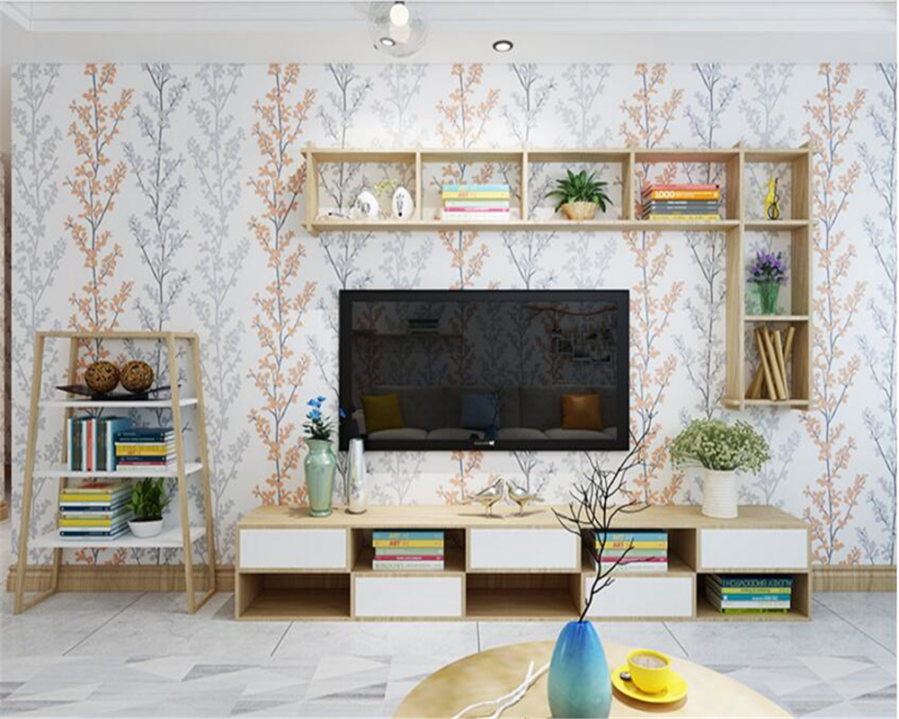 beibehang Nordic creative wall paper sofa background living room TV fashion papel de parede 3d wallpaper simple bedroom tapety<br>