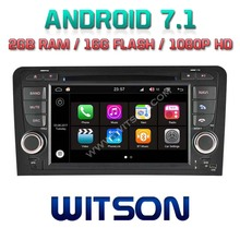WITSON S190 Android 7.1 Quad-Core 2GB RAM 16GB ROM CAR DVD for AUDI A3/S3/RS3 GPS RADIO NAVIGATION +DVR/WIFI+DSP+DAB+OBD+3G(China)