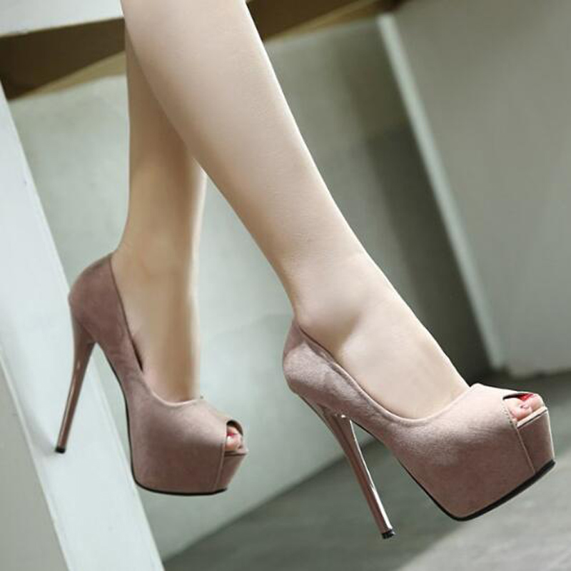 peep toe high heels shoes 2017 nude pumps women party shoes platform heels wedding shoes stiletto heels dress spring shoes D933<br><br>Aliexpress