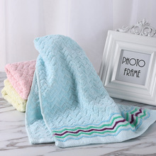 1PC New Quick Dry Hand Cloth Practical 75*34 Soft Cotton Dobby Face Towel Striped Practical Bathroom Home Textile Towel