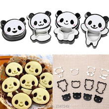 Cartoon Panda cookies cutter biscuit mould set baking tools cutter tools cake decoration 4pcs/set bakeware mold(China)