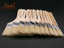 12Pcs/Set,Watercolor oil Art Paint Brush pig Bristle painting art brush Easy To Clean wooden cleaning brush BBQ scrubbing brush(China)