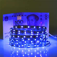 0.5m 1m 2m 3m 4m 5m SMD 2835 UV Flexible LED Strip light 12V 60leds/m 395-405nm Ultraviolet Waterproof non/IP65 LED Diode Tape